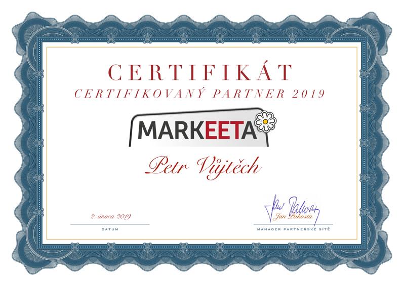 Markeeta certifikát 2019